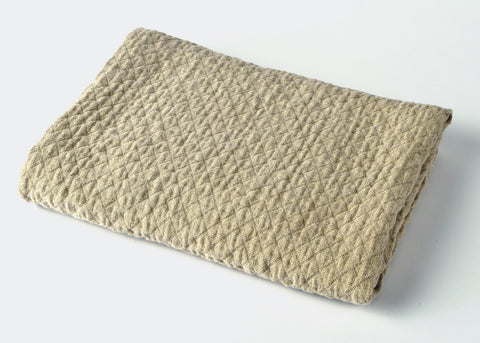 diamond weave linen bath towel