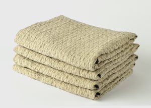 diamond weave bath towel stack
