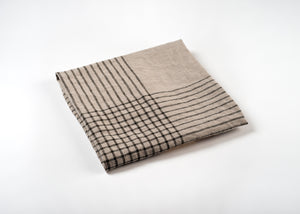 wholesale lightweight grid linen dish towel - gray