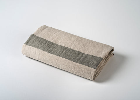 lightweight linen travel towel - gray