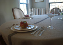 Load image into Gallery viewer,  heavyweight solo stripe linen tablecloth dining room