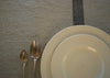 heavyweight solo stripe linen tablecloth dinner placement