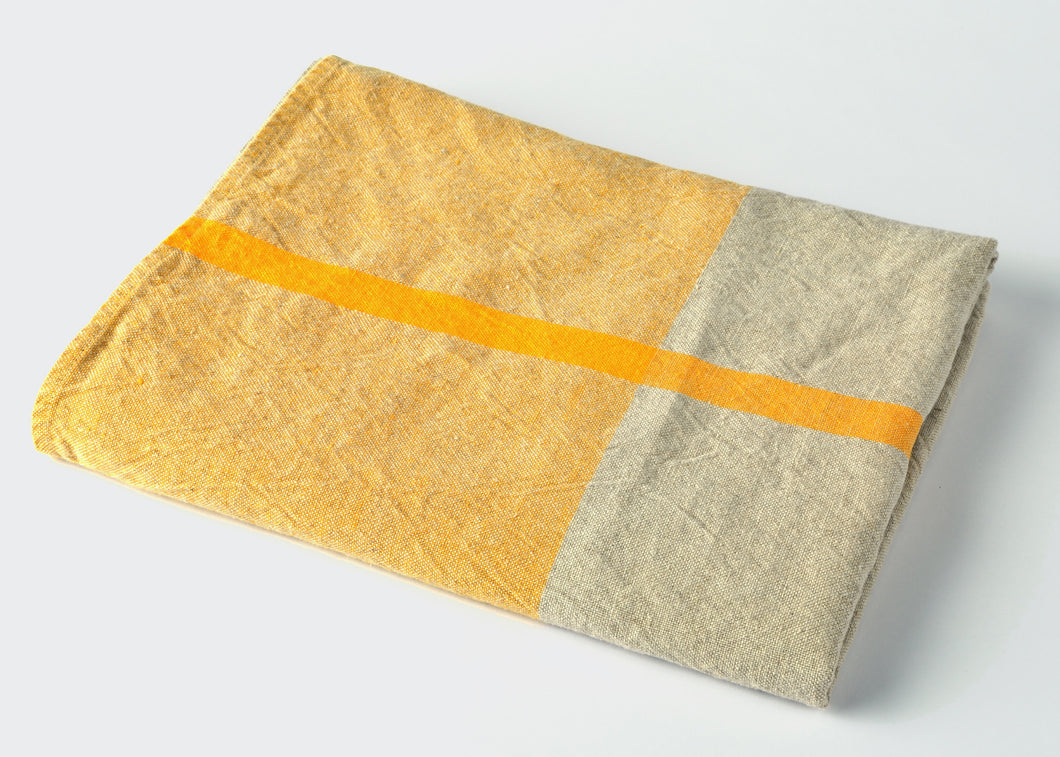wholesale heavyweight t-pattern linen bath towel - yellow