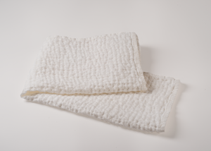 diamond weave linen dish/hand towel - white