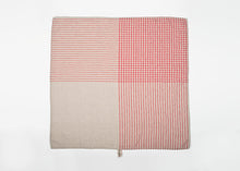Load image into Gallery viewer, lightweight grid linen dish towel - red