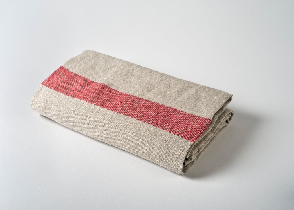 wholesale lightweight linen travel towel - red
