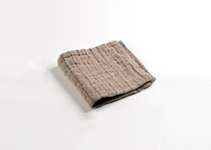 wholesale two-ply red stripe linen washcloth