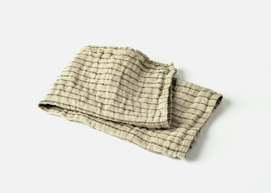 wholesale two-ply stripe linen dish towel