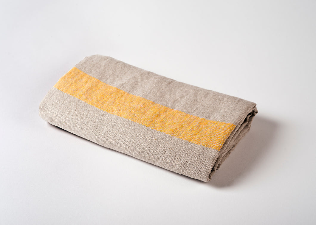 lightweight linen travel towel - yellow