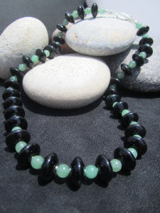 Black Onyx and Aventurine Necklace