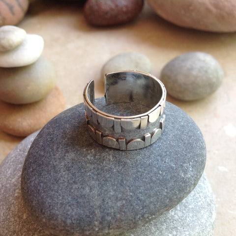 Sterling Silver Geometric Ring #4