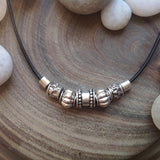 Pewter and Leather Necklace