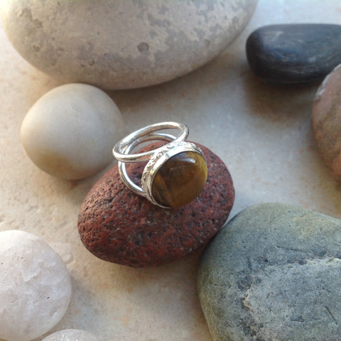 Sterling Silver and Tigereye Ring