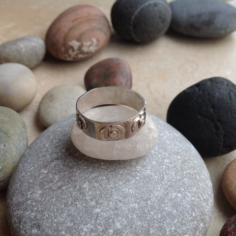 Sterling Silver Geometric Ring #1