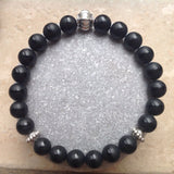 Matte Black Onyx with Stripe Bracelet