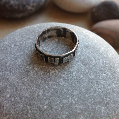 Sterling Silver Geometric Ring  #2