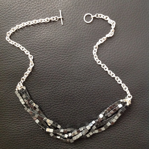 Hematite Squares Necklace
