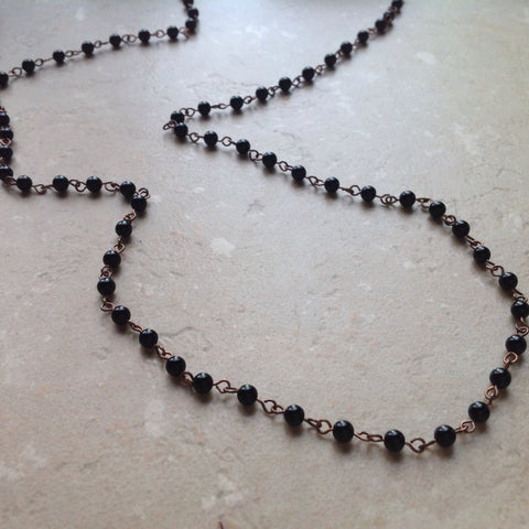 Black Onyx Small Bead Necklace