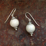 Sterling Silver Frosted Earrings
