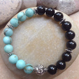 Blue Jasper and Black Onyx Bracelet