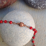 Coral Small Bead Necklace