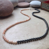 Hematite and Coral Necklace
