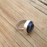 Druzy Cabochon and Sterling Silver Ring