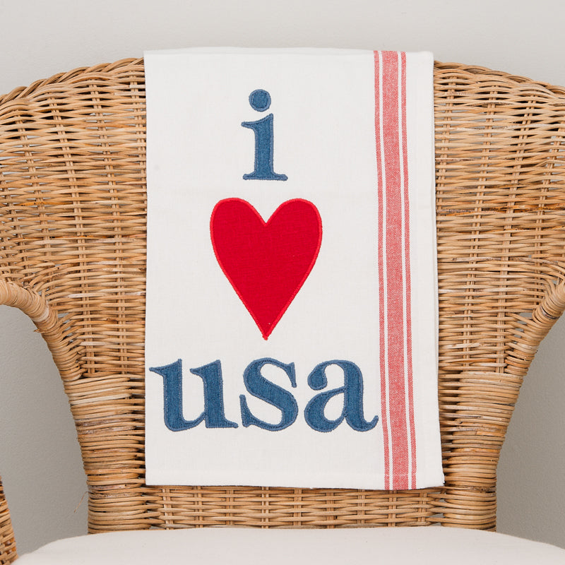 I Love USA Towel