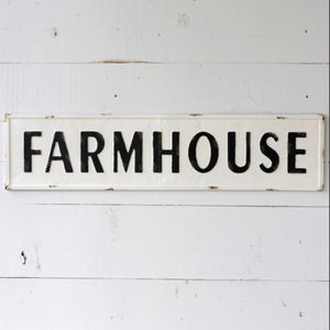 Embossed Metal Farmhouse Sign