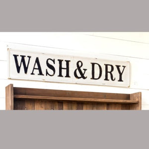 "Metal ""Wash & Dry"" Sign"