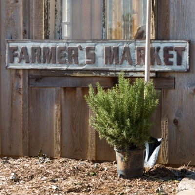 Metal Farmer's Market Sign