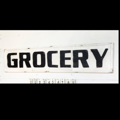 Metal Grocery Sign