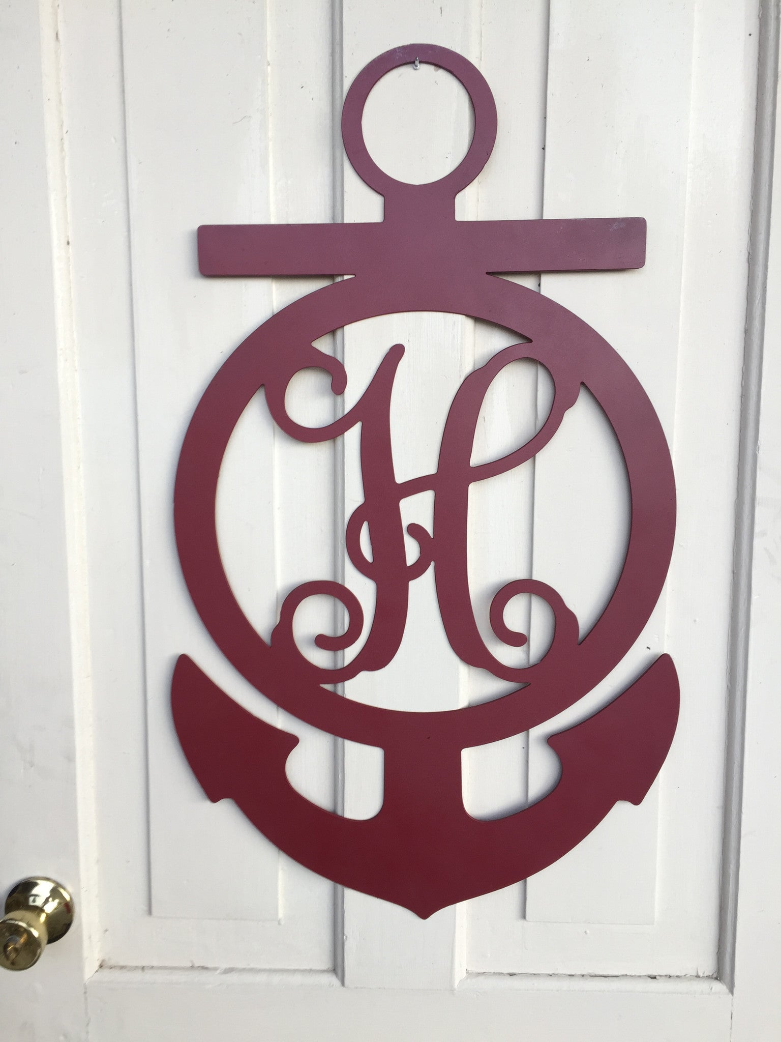 'Anchor Steel Monogram with Letter