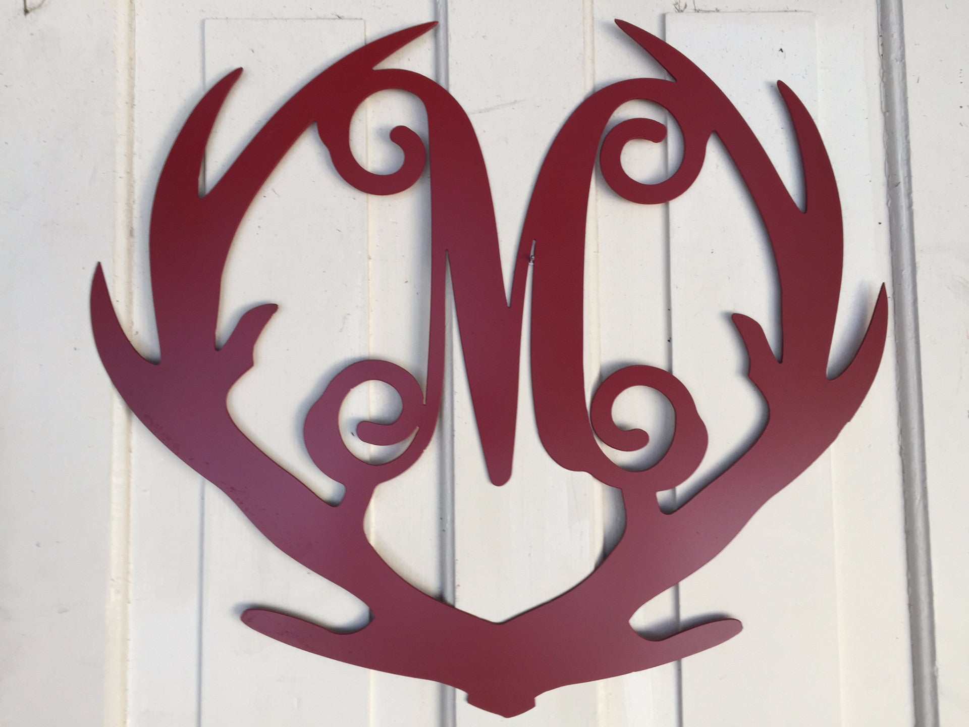 'Deer Antlers with Letter