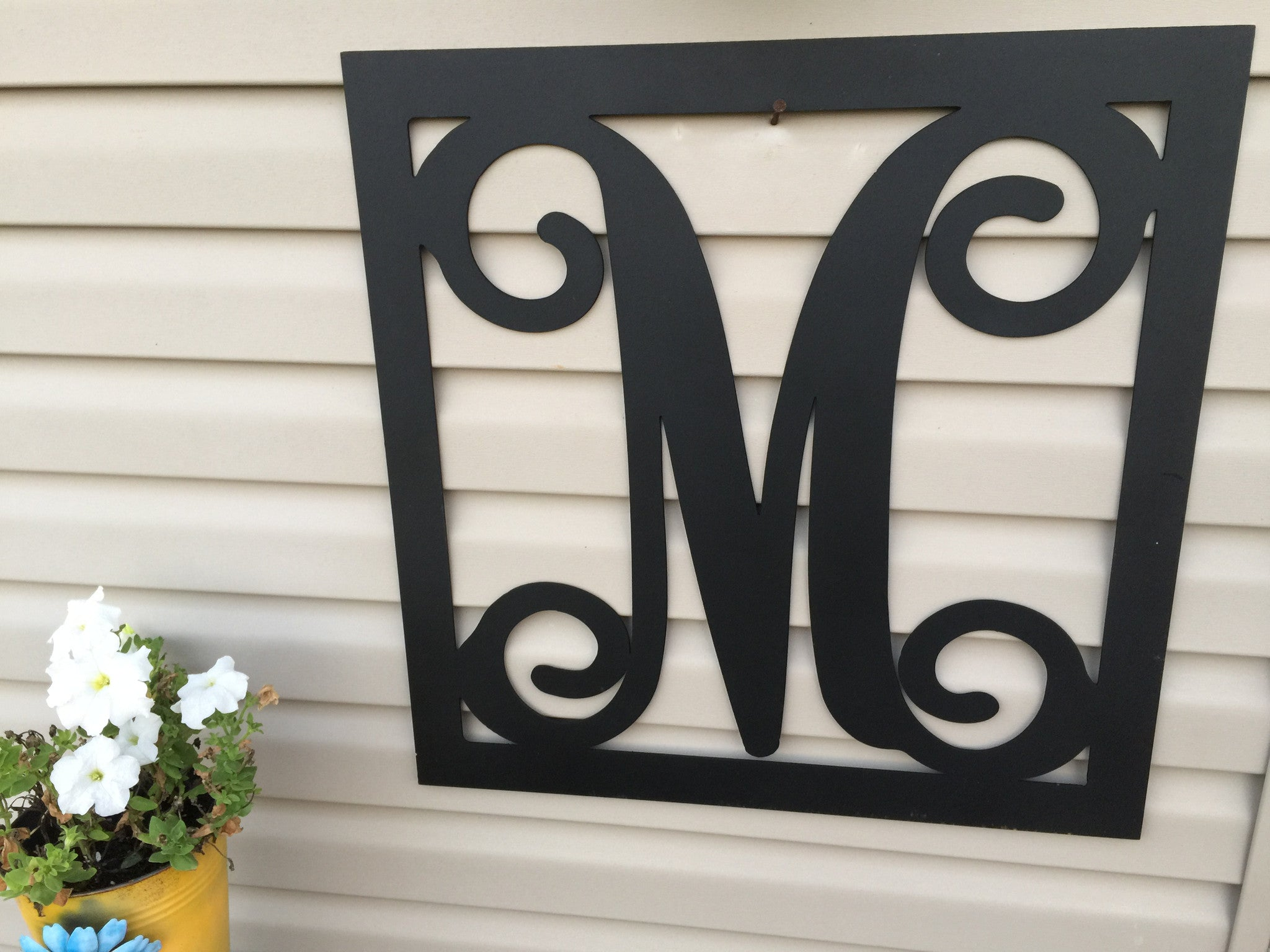 ''Metal Mogram Square with custom letter
