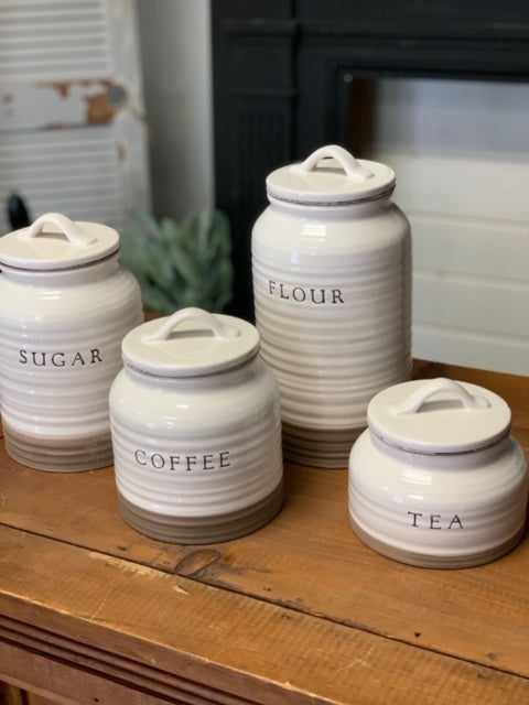 Ceramic Canister Set of 4