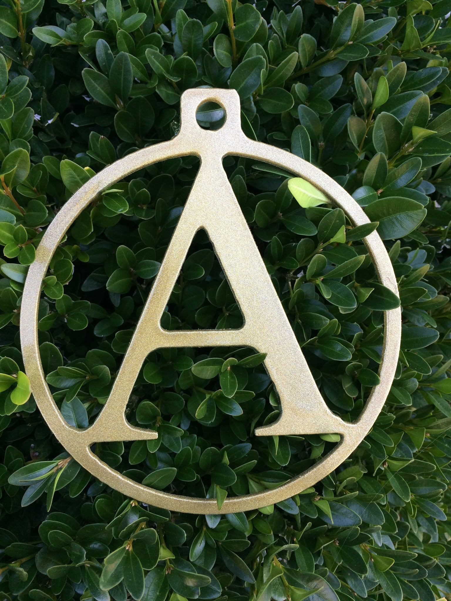 Monogram Christmas Ornament 6""