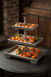 Three Tiered Rectangular Tray