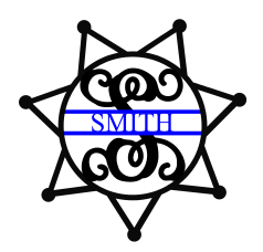 Police Badge 7 point Blue Line
