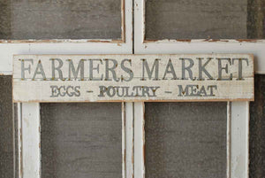 Wood & Metal Farmer's Market Sign