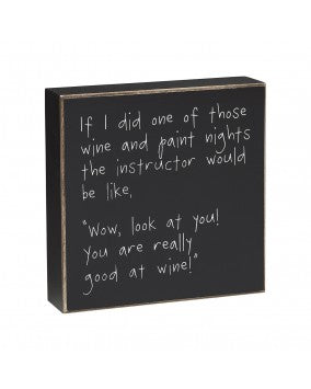 Wine & Paint Sign