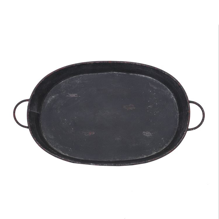 Distressed Black Tray
