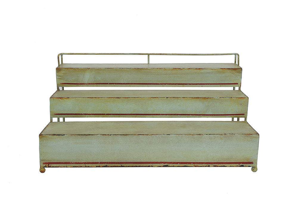 Green Metal 3 Tier Rack