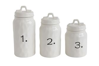 Ceramic Canister Set Numbered