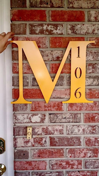 Block Style Letter with House Number