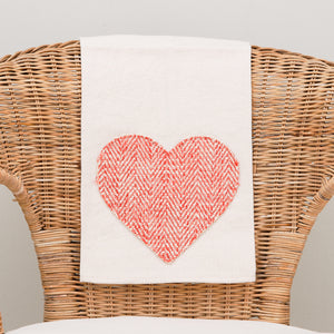 Aplique Heart Tea Towel