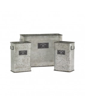 Vintage 825 Galvanized Rectangle Bin
