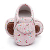 Pink Unicorn Hard Sole Moccasins - Pecan + Peach Kids