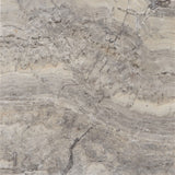 12 x 12 Honed and Filled Silver Travertine Tile - DEKO Tile