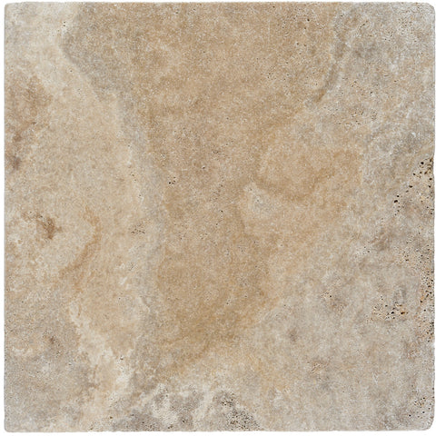 12 x 12 Scabos Travertine Tumbled Paver - DEKO Tile